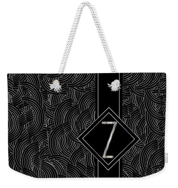Deco Jazz Swing Monogram ...letter Z Weekender Tote Bag