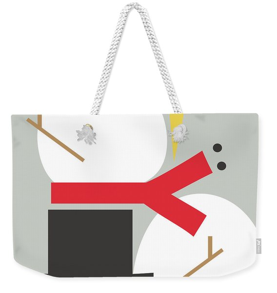 Deconstructed Snowman- Modern Art By Linda Woods Weekender Tote Bag