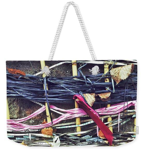 Decorative Colorful Ribbons Weekender Tote Bag