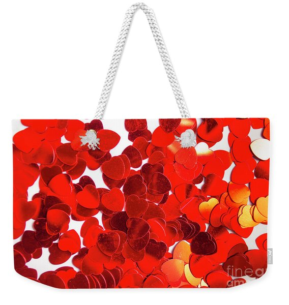 Decorative Heart Background Weekender Tote Bag