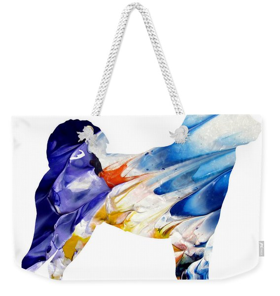 Decorative Husky Abstract O1015c Weekender Tote Bag