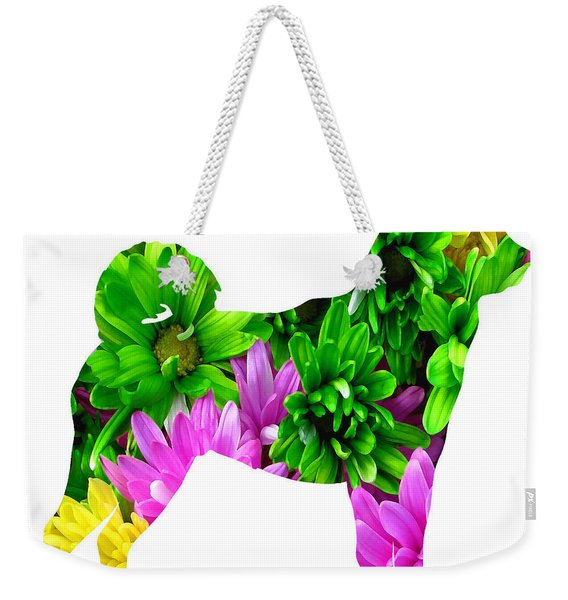 Decorative Husky Abstract O1015d Weekender Tote Bag