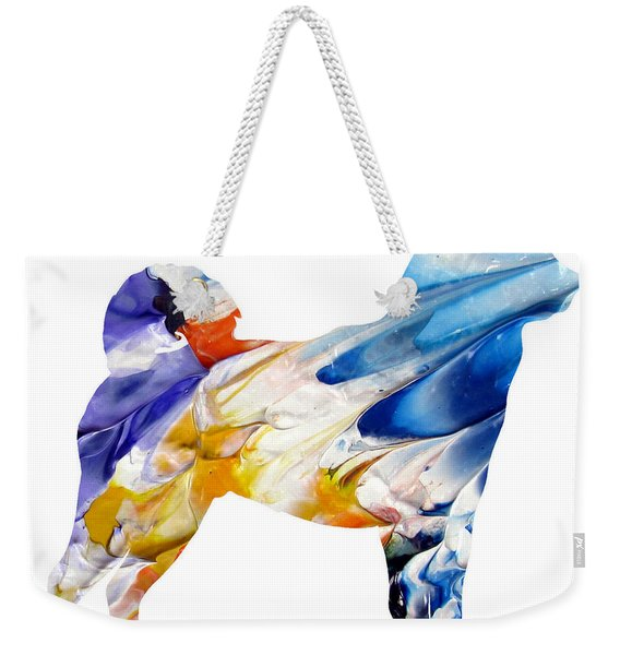 Decorative Husky Abstract O1015e Weekender Tote Bag