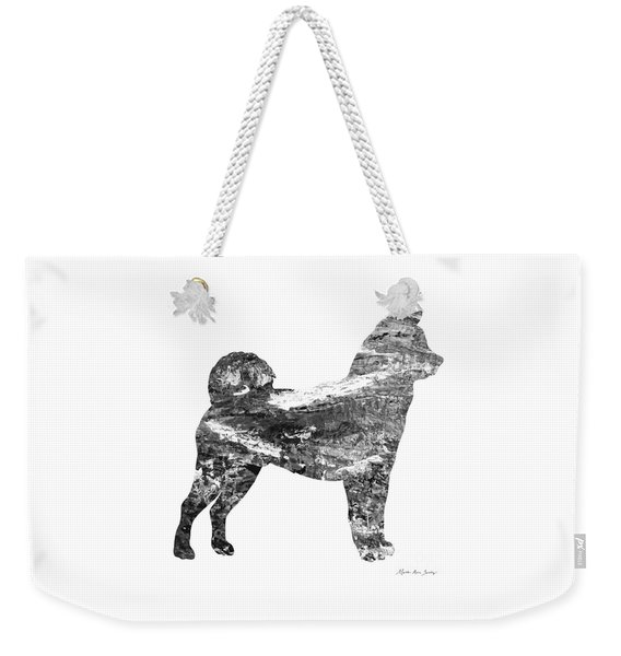 Decorative Husky Abstract O1015j Weekender Tote Bag