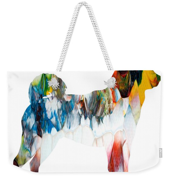 Decorative Husky Abstract O1015l Weekender Tote Bag