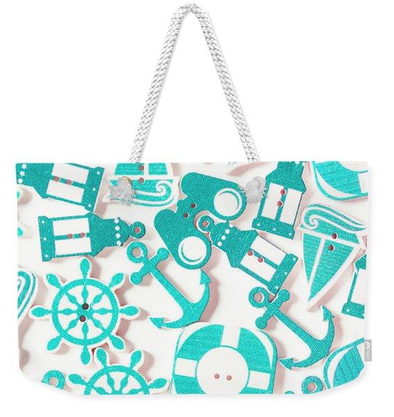 Decorative Marine Scene Weekender Tote Bag