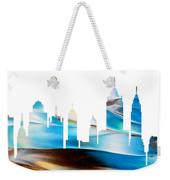 Decorative Skyline Abstract New York P1015a Weekender Tote Bag
