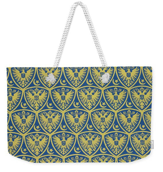 Decorative Pattern With The German Coat Of Arms Weekender Tote Bag