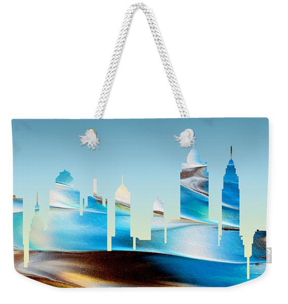 Decorative Skyline Abstract New York P1015b Weekender Tote Bag