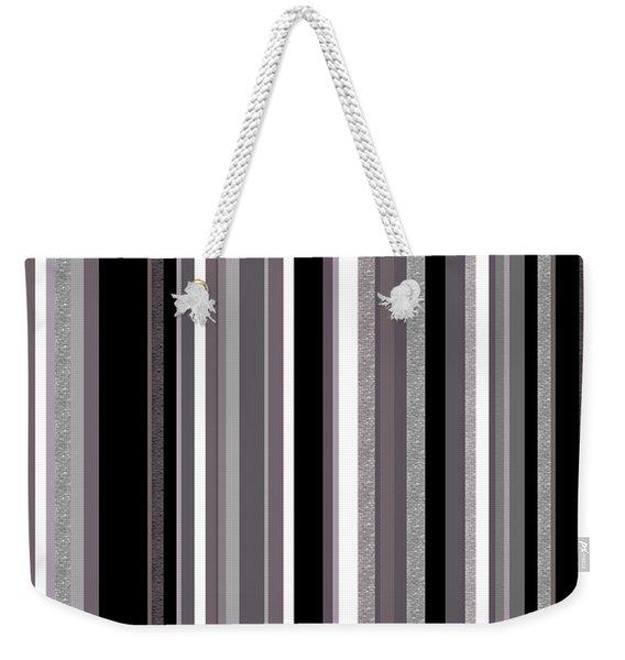 Decorative Stripe - Lavender Gray Weekender Tote Bag
