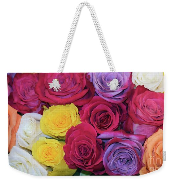 Decorative Wallart Brilliant Roses Photo B41217 Weekender Tote Bag