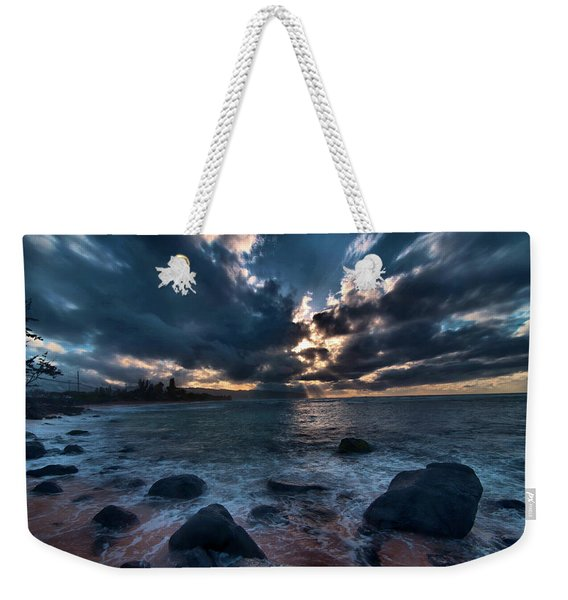 Deep Blue Sunset Weekender Tote Bag