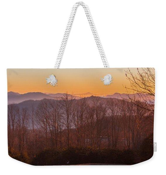 Deep Orange Sunrise Weekender Tote Bag