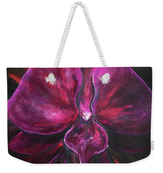 Deep Purple Orchid Weekender Tote Bag