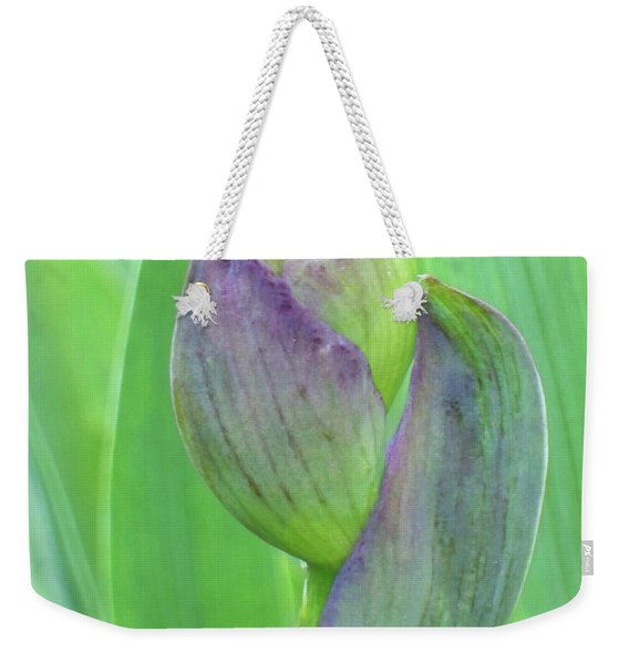 Weekender Tote Bag featuring the photograph Deep Purple Promise by Cris Fulton