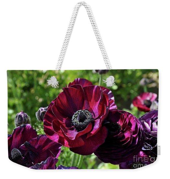 Deep Ranunculus Weekender Tote Bag