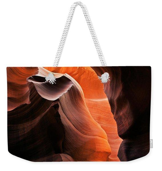 Deep Red Glow Weekender Tote Bag