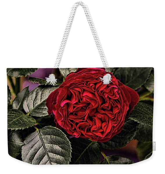 Deep Red Rose Weekender Tote Bag