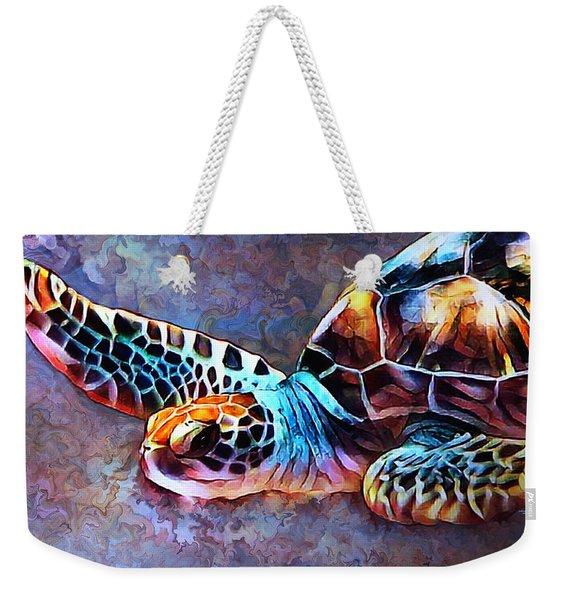 Deep Sea Trutle Weekender Tote Bag