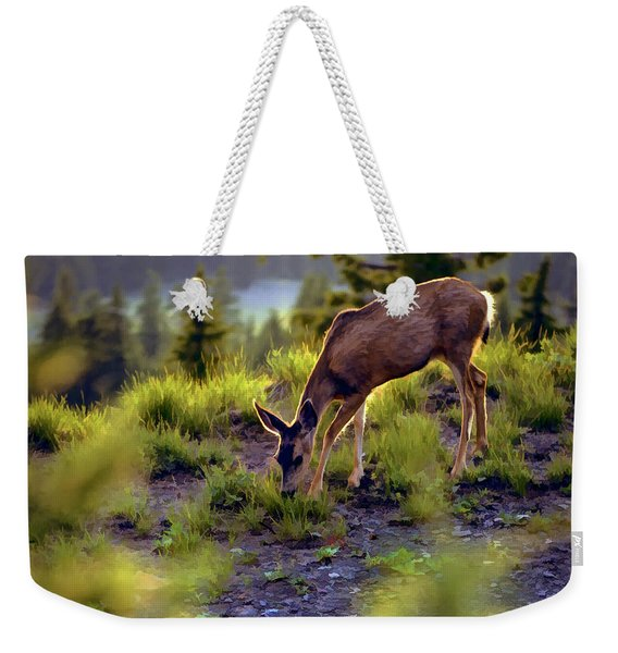 Deer At Crater Lake, Oregon Weekender Tote Bag