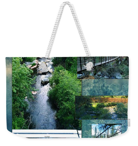 Deer Creek Bridges Weekender Tote Bag