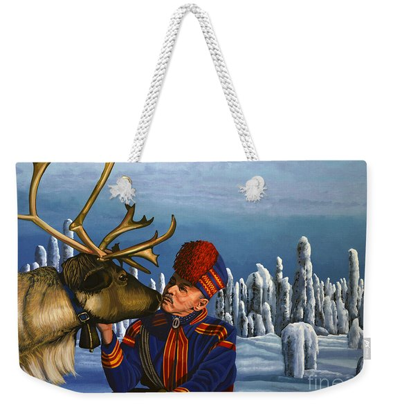 Deer Friends Of Finland Weekender Tote Bag
