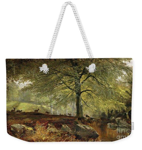 Deer In A Wood Weekender Tote Bag