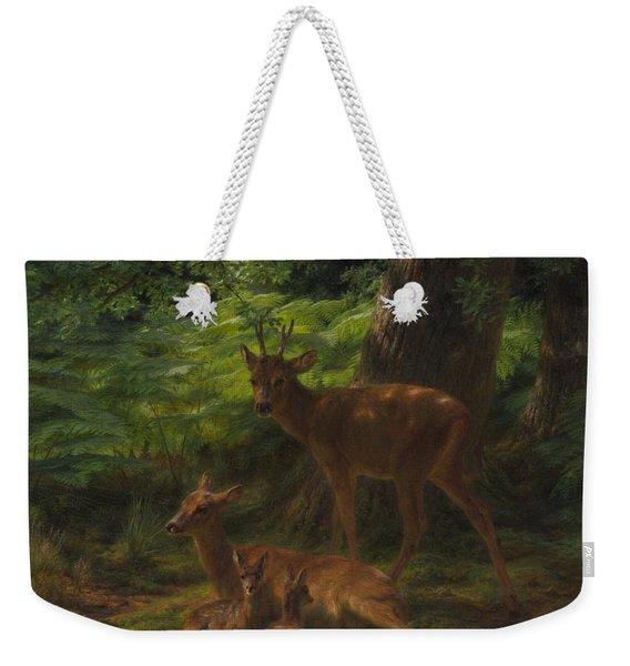 Deer In Repose Weekender Tote Bag