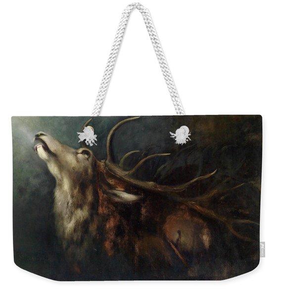 Dying Deer Weekender Tote Bag