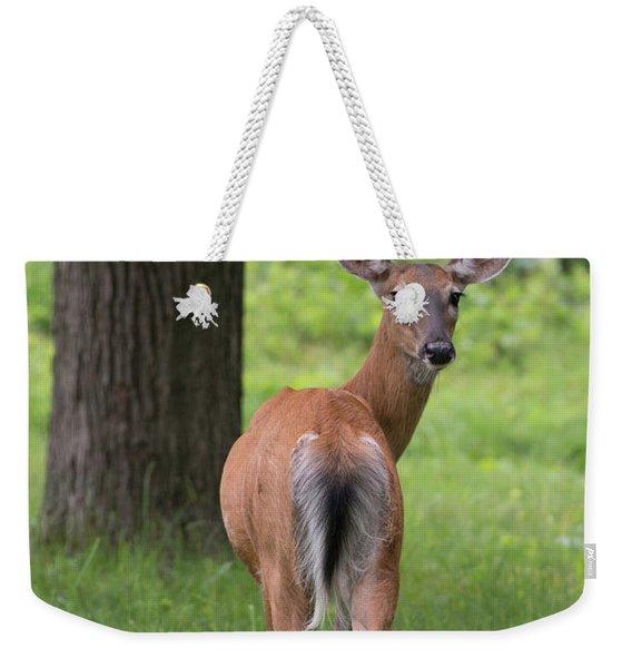 Deer Looking Back Weekender Tote Bag