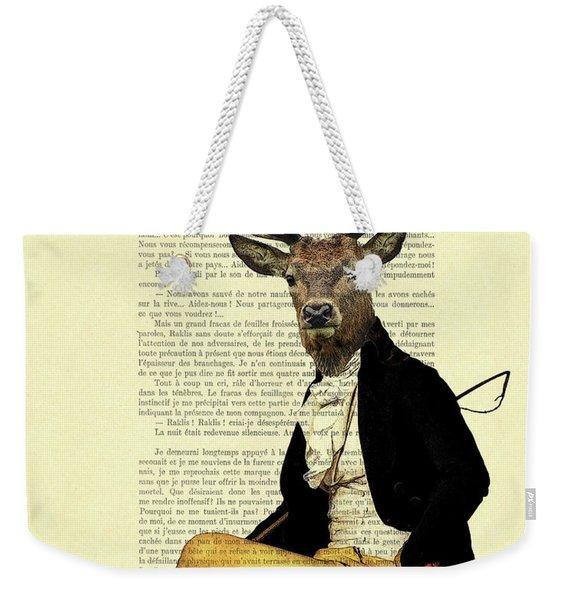 Deer Regency Portrait Weekender Tote Bag