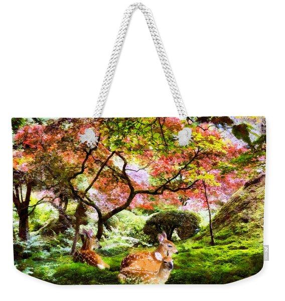 Deer Relaxing In A Meadow Weekender Tote Bag