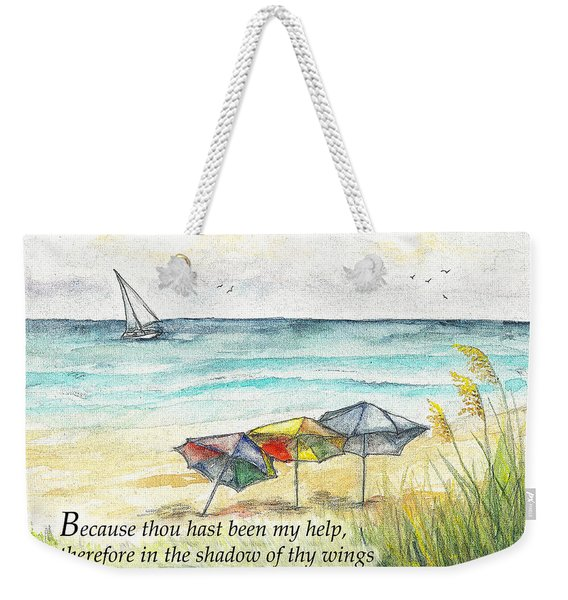 Deerfield Beach Umbrellas Psalm 63 Weekender Tote Bag