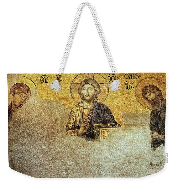 Deesis Mosaic Hagia Sophia-christ Pantocrator-judgement Day Weekender Tote Bag