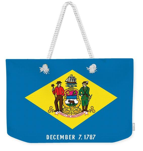 Delaware State Flag Weekender Tote Bag
