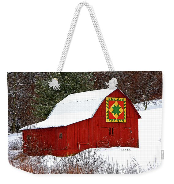 Delectable Mountains Snow Weekender Tote Bag