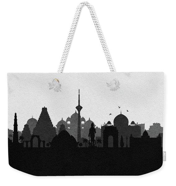 Delhi Cityscape Art Weekender Tote Bag