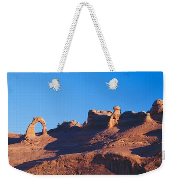 Delicate Arch At Sunrise, Arches Weekender Tote Bag