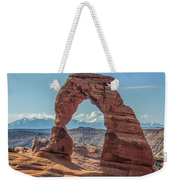 Delicate Arch In Early Morning Weekender Tote Bag