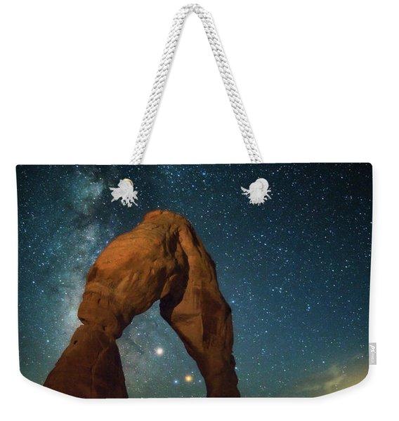 Delicate Arch Moonset Weekender Tote Bag