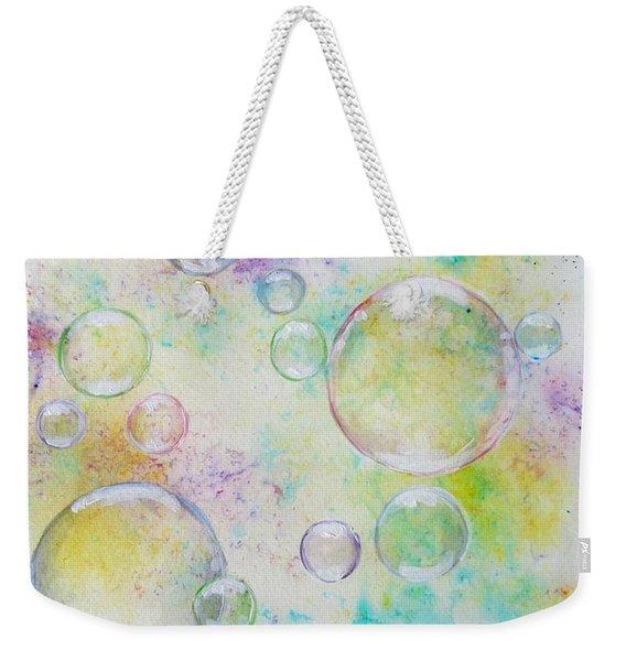 Delicate Bubbles Weekender Tote Bag