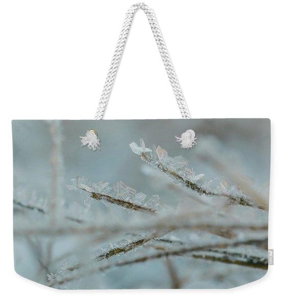 Delicate Morning Frost  Weekender Tote Bag