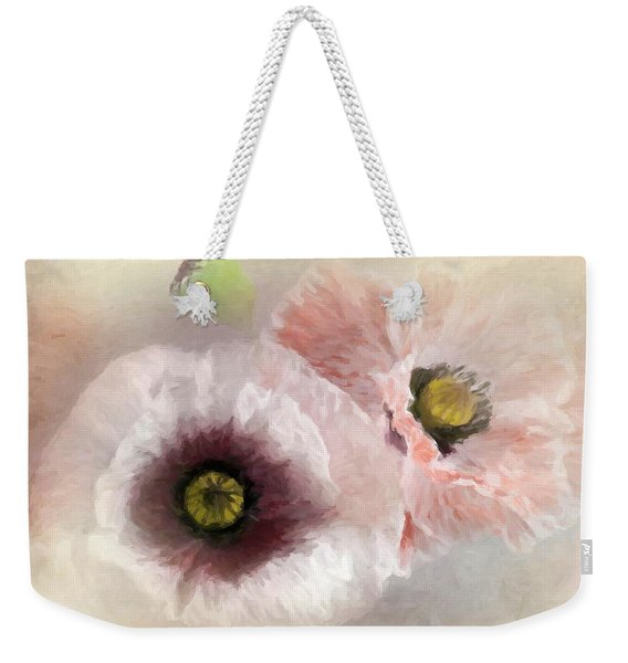 Delicate Pastel Poppies Weekender Tote Bag