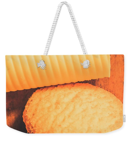 Delicious Cookies With Piece Of Butter Weekender Tote Bag