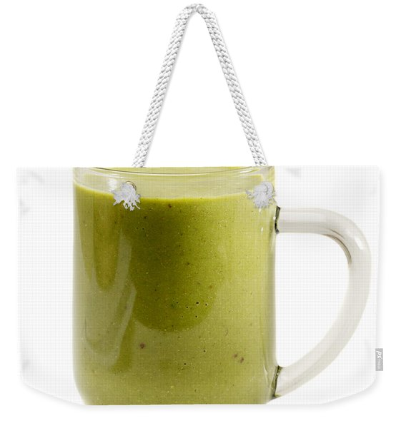 Delicious Kale Smoothie Isolated On White Weekender Tote Bag
