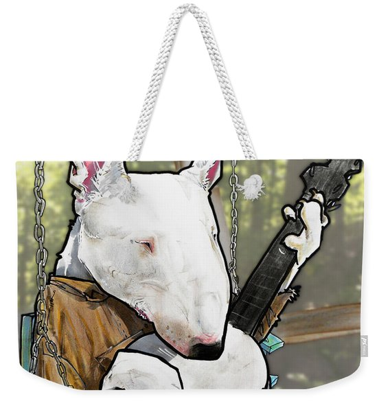 Deliverance Bull Terrier Caricature Art Print Weekender Tote Bag