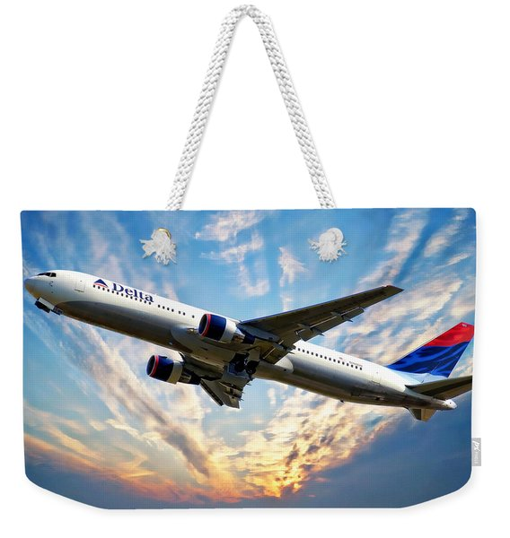 Delta Passenger Plane Weekender Tote Bag