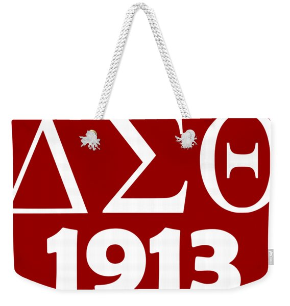 Delta Sigma Theta 1913 Weekender Tote Bag