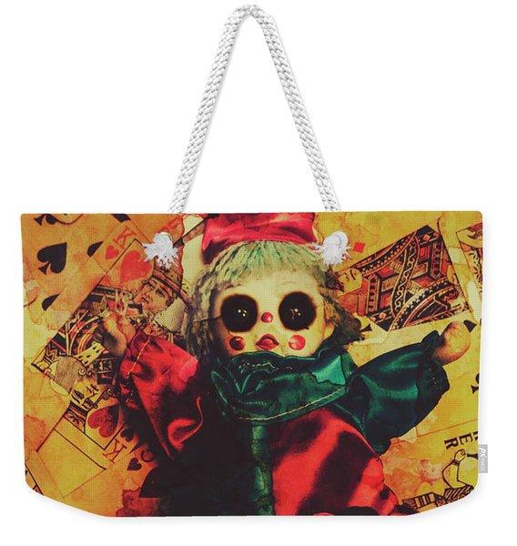 Demonic Possessed Joker Doll Weekender Tote Bag