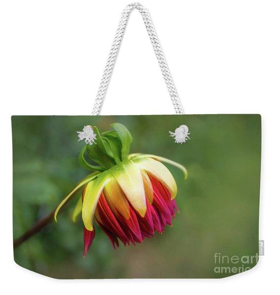 Demure Dahlia Bud Weekender Tote Bag